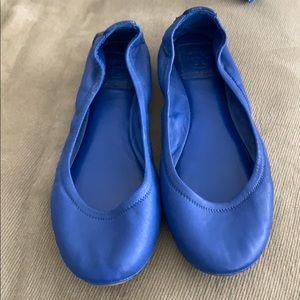 Tory Burch Blue Eddie Flats